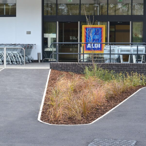 An Aldi storefront