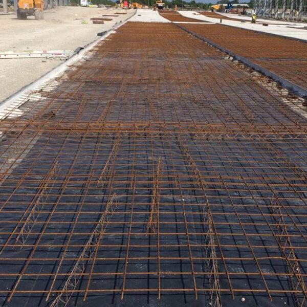 A metal grid